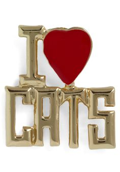 A Girls Best Friend Pin - Gold, Red, Statement - @Jennifer Dagdigian is it too late to get this for your bday?!