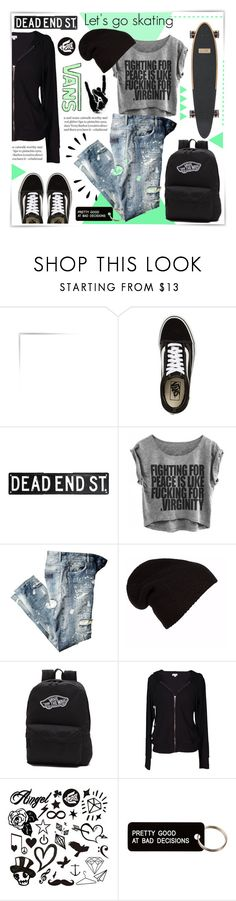 """LET'S GO SKATING"" by celine-diaz-1 ❤ liked on Polyvore featuring Vans, Velvet by Graham & Spencer, Old Navy and Various Projects"