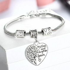 Heart Mother And Daughter Bracelet Charm