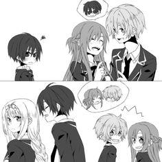 Sword art online - haha, Kirito trying to make Asuna jealous xD