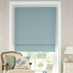 Duck Egg Vintage Spot Blackout Roman Blind | Dunelm