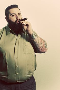 Fashion mens clotheS Plus Size Men's Clothing Style for the big boys! Swag. Cute. Huggable!  Hair. Cigar
