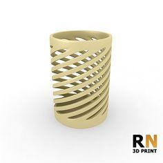 High poly, 3D printable Pencil Holder.