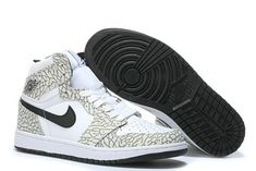 b51e0cdebb3 Nike Air Jordan 1 Retro High White Elephant 839115 106 White Cet Grey Black  new style Shoe