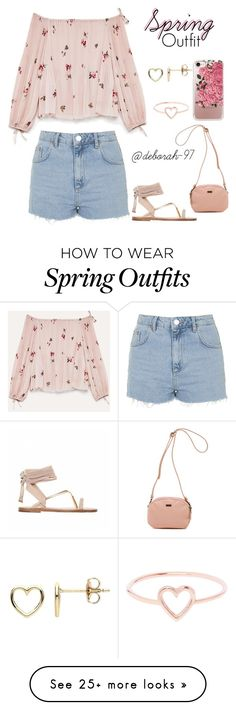 """""""Spring Outfit #3"""" by deborah-97 on Polyvore featuring Estella Bartlett, Topshop, Vans, Casetify and Love Is"""