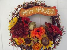 Fall Harvest Wreath filled with rich colors of by BlessMyNestShop, $45.00