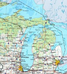 Map Of State Of Michigan With Its Cities Towns And Counties Been - Map of michigan counties and cities