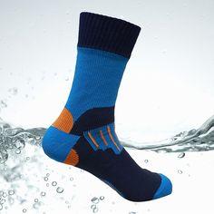 Aqua Waterproof Socks Men Water Cycling Socks Climbing Hiking Skiing Socks Women Knee High Orange Coolmax Outdoor Dry fast Socks