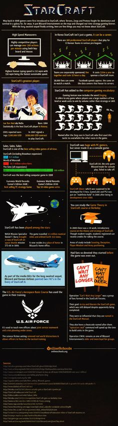 StarCraft | Visit our new infographic gallery at visualoop.com/