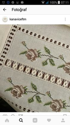 This Pin was discovered by Ayt Hardanger Embroidery, Cross Stitch Embroidery, Cross Stitch Patterns, Just Cross Stitch, Cross Stitch Heart, Hand Embroidery Flowers, Embroidery Patterns, Needlepoint Stitches, Needlework