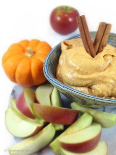 Pumpkin Maple Dip With Reduced Fat Cream Cheese, Solid Pack Pumpkin, Brown Sugar, Maple Syrup, Cinnamon