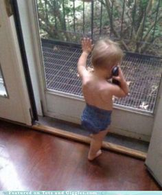 Sooo cute! I can see my grandson doing this