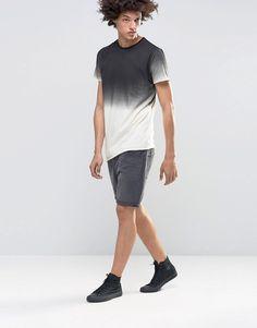 Image 4 ofKubban Denim Muscle Fit Dip Dye T-Shirt