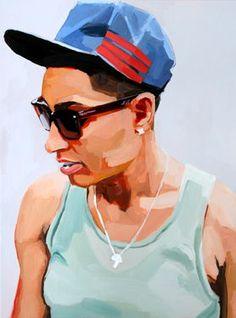 "Saatchi Art Artist Erin Fitzpatrick; Painting, ""Kiana"" #art (Woolf)"
