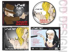 CD cover and CD label  Created by NAOKI STUDIOS Graphic design studio in Gold Coast #illustrator #graphicdesign #art #manga #comic #drawing #gunman #num #photoshop #cd #punk #girl #japanese #gun #smokingbarrel #naokistudios