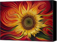Flower Painting Canvas Prints and Flower Painting Canvas Art for Sale