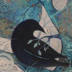 Crowsravens Painting on Canvas Original art  nature theme