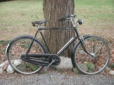 """Jeffrey P. Miller's 1950 Raleigh Tourist """"Sir Walter"""" as he acquired it before restoring it"""