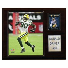 NFL 12 x 15 in. Donald Driver Green Bay Packers Player Plaque - 1215DRIVER