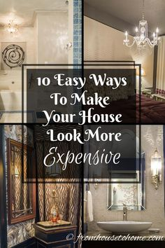 Great ideas for making your house look more expensive without spending a lot of money! I love these tips! Definitely pinning for