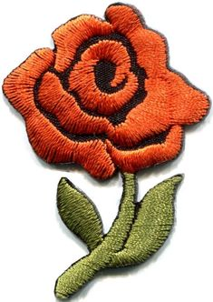 1PC Embroidery Flower Sew On Patch For Dress T-Shirt Bag Clothes Applique Craft