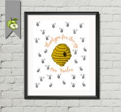 Teacher Appreciation gift bumble bee preschool by TheArtyApples