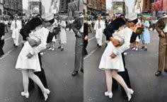 Alcuni artisti hanno utilizzato Photoshop per aggiungere i colori ad alcune foto in bianco e nero che hanno fatto la storia