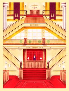 Cool Art: 'The Grand Budapest Hotel' by Marie Bergeron