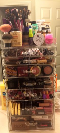 Acrylic makeup storage. Bigger than the clear cube and beauty box!
