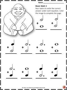 math worksheet : music math with a fall autumn theme  math and music : Musical Math Worksheets
