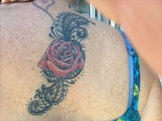 My version of a lace and rose tattoo. Love it