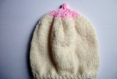 Baby Boob Hat, Breastfeeding Beanie Newborn, month by thekittensmittensuk on Etsy Knit Hat For Men, Hats For Men, Stag And Hen, Animal Hats, Baby Hands, Handmade Christmas Gifts, Girls Wardrobe, Knitting Accessories, Beanie Hats