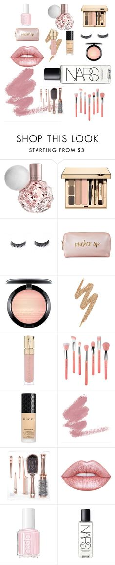 """""""Pucker up"""" by claire-sweetie ❤ liked on Polyvore featuring Neiman Marcus, MAC Cosmetics, Urban Decay, Smith & Cult, Bdellium Tools, Gucci, Lime Crime, Essie and NARS Cosmetics"""
