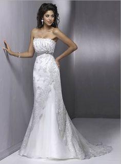 2012 Original Empire Waist Fashion New Style Applique Sash Sweep Length (LWD-034) [LWD-034] - $175.99 :