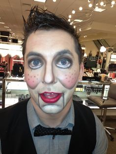 Ventriloquist Dummy Makeup - male