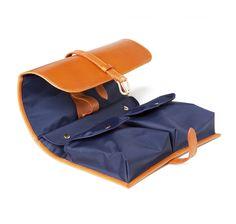 London Tan Leather Military Wash Kit