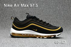 Authentic Nike Air Max 97 97.5 Black Metallic Gold Nike Air Max 97 On Line  Cheap d212a3e42