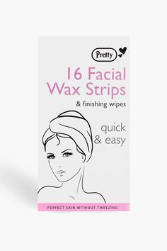 Womens 16 Facial Wax Strips With Wipes - white - ONE SIZE - Let's be honest, unwanted hair on the face equals bad times. This pack of 16 facial wax strips with wipes will have you polished to perfection in no time. Quick and easy to use, they can be applied to the chin, upper lip, jawline and cheeks. Unreal.Style: SkincareDesign: PlainFabric: Misc #BakingSodaForHair Underarm Hair Removal, Hair Removal Cream, Baking Soda Shampoo, Baking Soda Uses, Dry Shampoo, Clarifying Shampoo, Grow Long Hair, Grow Hair, Hair Cleanser