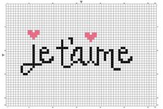 the split stitch: Get Your Craft On! FREE I love you cross stitch chart