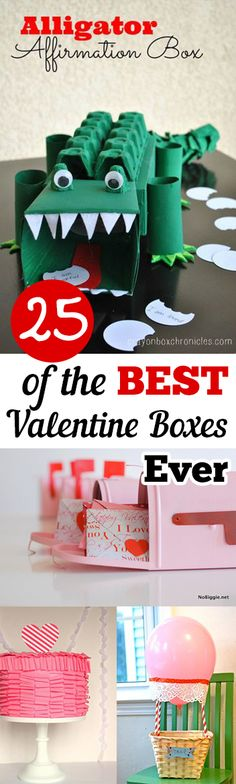 25 Valentine Boxes -- Fun and creative Valentine's Day boxes for your kids to collect their Valentines!