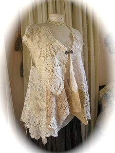 TatteredDelicates Doily Vest Top cover up by TatteredDelicates