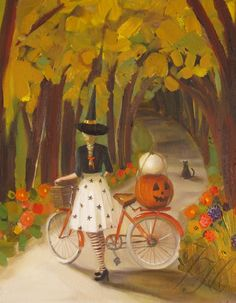"""huariqueje: """" The Hollow - Janet Hill Canadian, Print Epson Ultrachrome archival inks on heavyweight matte fine art paper ( cotton rag). Photo Halloween, Halloween Vintage, Halloween Artwork, Halloween Painting, Halloween Pictures, Halloween Prints, Vintage Halloween Decorations, Halloween Prop, Halloween Witches"""