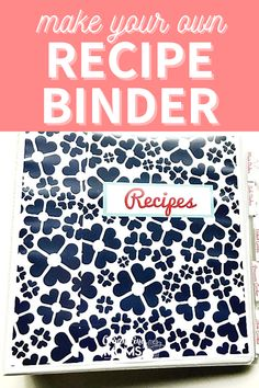 Easy Recipe Binder. This binder will keep your recipes neat and organized. Click here to discover how to make your own recipe binder for all your favorite dishes! Make meal planning and meal prep easier with your recipes organized this way.  #organizingmoms Organizing Paperwork, Binder Organization, Recipe Organization, Organization Ideas, Organizing Tips, How To Make Your Own Recipe, Food To Make, Organized Mom, Getting Organized