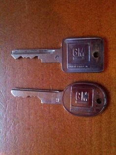 Who remembers when you needed 2 keys for your car..ha, ha, I had a set just like this.