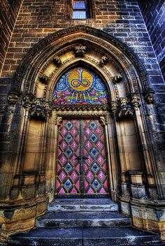 Vysehrad Castle Door , Prague, Czech Republic