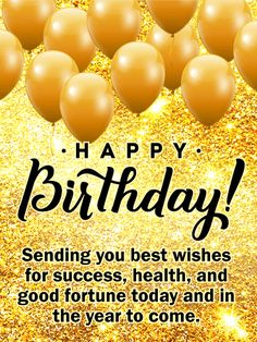 Send Free Sending You Best Wishes - Happy Birthday Card to Loved Ones on Birthday & Greeting Cards by Davia. It's free, and you also can use your own customized birthday calendar and birthday reminders. Happy Birthday Wishes Photos, Happy Birthday Wishes For A Friend, Happy Birthday Flower, Birthday Wishes Messages, Birthday Blessings, Happy Birthday Cards, Card Birthday, Happy Birthday Teacher, Birthday Msgs