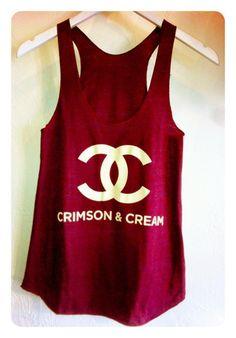 Chanel crimson and cream tank Boomer Sooner! Delta Girl, Boomer Sooner, Delta Sigma Theta, Oklahoma Sooners, Facon, Blazer, Swagg, Dress Me Up, Passion For Fashion