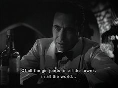 [❦ Still one of the best....have to watch at least once each year.]   Humphry Bogart as Rick Blaine in Casablanca