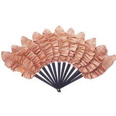 Luxury Apricot Palmette Hand-Fan by Duvelleroy