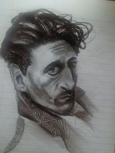 journal sketch 2015, while in the land of Nod, Adrien Brody.